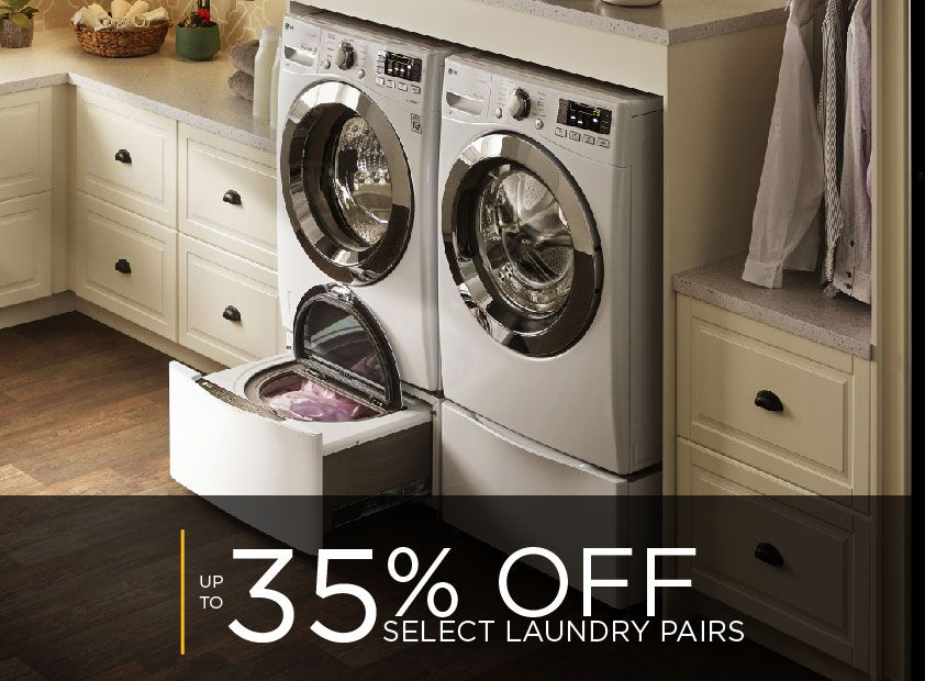 up to 35% off on select laundry pairs