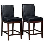 Standard Caden Counter-Height Black Chairs Set of 2