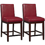 Standard Caden Counter-Height Red Chairs Set of 2 196.00
