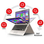 Toshiba Touchscreen Satellite Radius™ Convertible Laptop with Intel® Pentium® N3540 Processor 419.99