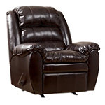 Home Solutions Burgundy DuraBlend Leather Rocker Recliner
