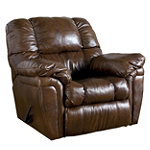 Home Solutions Oak Leather Match Rocker Recliner