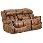 Home Stretch Tye Rocking Reclining Console Loveseat 879.00