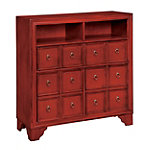 Coast to Coast Accents Red Apothecary Chest