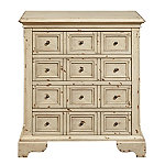 Home Meridian Distressed White Apotehcary Accent Chest