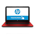 HP Touchscreen Laptop with AMD Quad-Core A6-6310 Processor, 4GB Memory, 500GB Hard Drive, Red