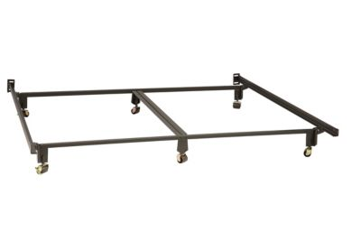 Mantua King Size Bed Frame with 6 Carpet Rollers and Wedge-Lock Recessed Safety Leg