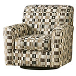 Home Solutions Chocolate Swivel Accent Chair 299.95