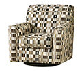 Home Solutions Chocolate Swivel Accent Chair