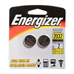 Energizer 2-Pack Watch / Electronics Cell Size 2032 Batteries 2.95