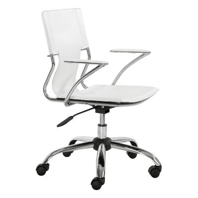 Zuo Modern White Trafico Office Chair