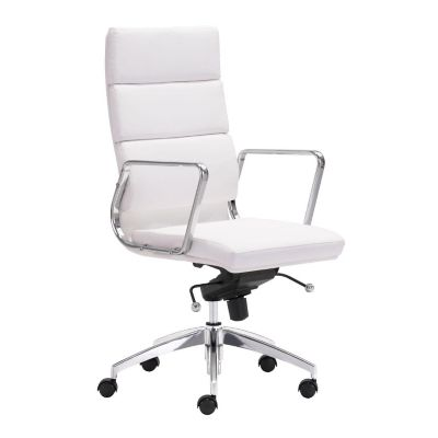 Zuo Modern White Engineer High Back Office Chair