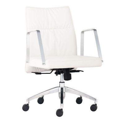 Zuo Modern White Dean Low Back Office Chair