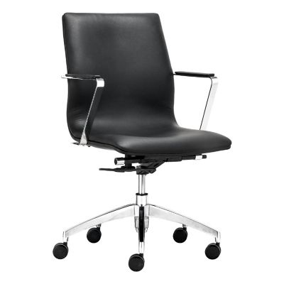 Zuo Modern Black Herald Low Back Office Chair