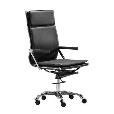 Zuo Modern Black Lider Plus Hi Back Office Chair