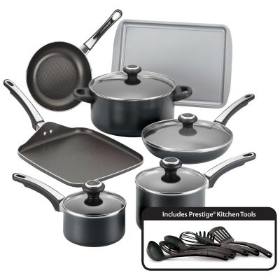 Farberware High Performance Black 17-Piece Nonstick Cookware Set