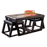 Home Solutions Cocktail Table with 2 Stools 219.99