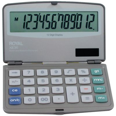 Royal 12-Digit Folding Solar Calculator