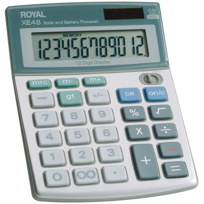 Royal 12-Digit Compact Desktop Solar Calculator