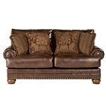 Home Solutions Old World DuraBlend® Leather Loveseat 619.99