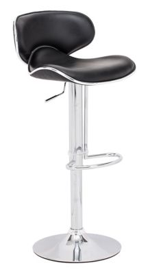 Zuo Modern Black Fly Bar Chair