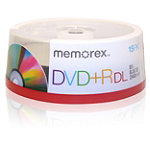 Memorex DVD+R Double Layer 15-Pack 9.95