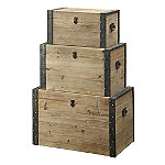Coast to Coast Accents Set of 3 Nesting Boxes