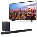 "Save $150 on LG 43"" 4K Ultra HD webOS 3.0 Smart TV and Soundbar with Wireless Subwoofer"