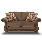 Berkline Simpkins Espresso Loveseat No price available.