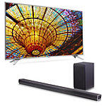 Save $150 on LG 49' 4K Ultra HD webOS 3.0 Smart TV and Soundbar with Wireless Subwoofer