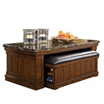 Home Solutions Cocktail Table with Mobile Ottoman 349.99