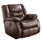 Home Solutions Burgundy Leather-Match Glider Rocker Recliner 549.95