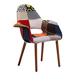 Zuo Modern Moshe Occasional Chair Patchwork