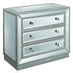 Coast to Coast Accents 3-Drawer Mirrored Cabinet