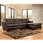 Home Solutions Chocolate Bonded Leather Right-Arm-Facing Corner Chaise 399.95
