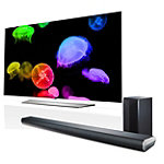 LG 55' 4K Ultra HD 3D webOS OLED Smart TV with FREE 320-Watt 2.1-Channel Soundbar and Wireless Subwoofer