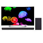 LG 55' Curved 1080p 3D webOS OLED Smart HDTV with FREE 320-Watt 2.1-Channel Soundbar and Wireless Subwoofer