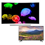 LG 55' Curved 4K Ultra HD 3D webOS OLED Smart TV with FREE 42' 1080p HDTV