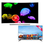 LG 55' Curved 4K Ultra HD 3D webOS OLED Smart TV with FREE 43' 1080p HDTV