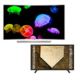 LG 55' Curved 4K Ultra HD 3D webOS OLED Smart TV with FREE 43' 1080p LED HDTV