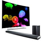 LG 55' Curved 4K Ultra HD 3D webOS OLED Smart TV with FREE 320-Watt 2.1-Channel Soundbar and Wireless Subwoofer