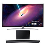 Samsung 55' Curved 4K SUHD 3D Smart TV with 8.1 Channel Curved Soundbar and Wireless Subwoofer