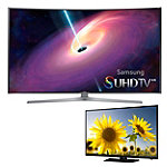 Samsung 55' Curved 4K SUHD 3D Smart TV with FREE 40' 1080p LED HDTV