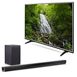 Save $150 on LG 55' 4K Ultra HD webOS 3.0 Smart TV and Soundbar with Wireless Subwoofer
