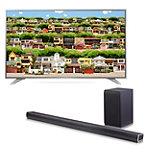 "Save $150 on LG 55"" 4K Ultra HD webOS 3.0 Smart TV and 360-Watt 4.1-Channel Soundbar with Wireless Subwoofer"