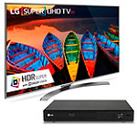 LG 55' 4K HDR Super Ultra HD webOS 3.0 Smart TV with FREE Wi-Fi Smart Blu-ray Player
