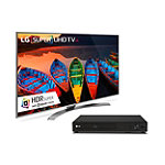 LG 55' 4K HDR Super Ultra HD webOS 3.0 Smart TV with FREE 3D Wi-Fi Smart Blu-ray Player