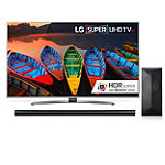 LG 55'4K Super Ultra HD webOS 3.0 HDR Smart TV with $100 Savings on 4.1-Channel Smart Soundbar and Wireless Subwoofer