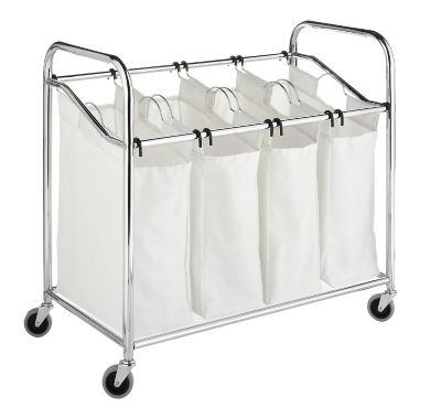 Whitmor Chrome 4-Section Laundry Sorter