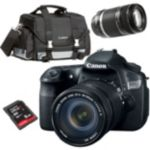 Canon D-SLR Camera with 2 Lenses, Bag and 8GB SD Card